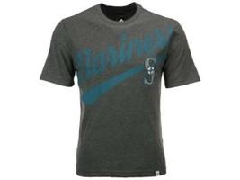 MLB Seattle Mariners Men's Tee Shirt Majestic Super Script T-Shirt Baseball NEW