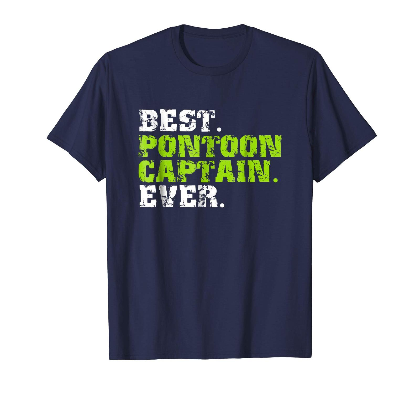 Primary image for Brother Shirts - Best Pontoon Captain Ever Funny Summer Boating T-Shirt Men