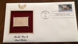 WORLD WAR II : Pearl Harbor First Day Gold Stamp Issue Sep. 3, 1991 - $6.50