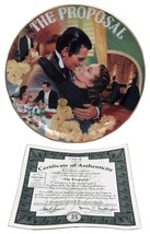The Proposal Gone with the Wind Plate Musical Treasures 1992 Bradford Ex... - $32.67