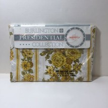 Yellow Floral Full Flat Sheet Burlington Presidental Waverly - $19.34