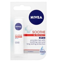 Nivea Soothe & Protect Lip Balm SPF15 For Dry Lips 4.8g - $8.54