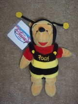 "NWT Disney Plush Halloween 8"" Bean Bag Bumble Bee Winnie the Pooh Shimmer Wings - $10.00"
