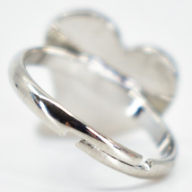 Kid's Fashion Silver Tone Heart Color Changing Fashion Adjustable Mood Ring image 2