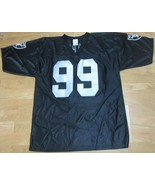 Las Vegas Oakland Raiders Black Jersey Large 100 % Polyester SAPP 99 NFL - $14.96