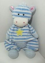 Kids Preferred Plush blue white striped zebra cow giraffe yellow star ba... - $49.49