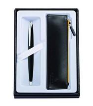 Cross ATX Basalt Black Ballpoint Pen & Classic Black Zip Pouch - $53.16