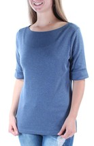 KAREN SCOTT SCOOP-NECK THREE-QUARTER SLEEVE TOP SIZE PETITE LARGE  - $8.81