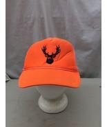trucker hat baseball cap Vintage Snapback Mesh Hunting Blaze Orange Deer... - $39.99