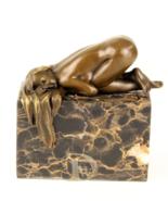 Antique Home Decor Bronze Sculpture shows Erotic Bronze,signed*Free Air ... - $219.00