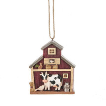Cow & Barn Ornament - $12.95