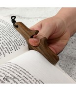 Wood thumb book page holder, phone holder , keychain - $15.00