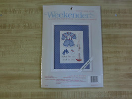 Weekenders OUR LITTLE BOY Counted Cross Stitch SEALED Kit  w/Mat  #0275-... - $9.90