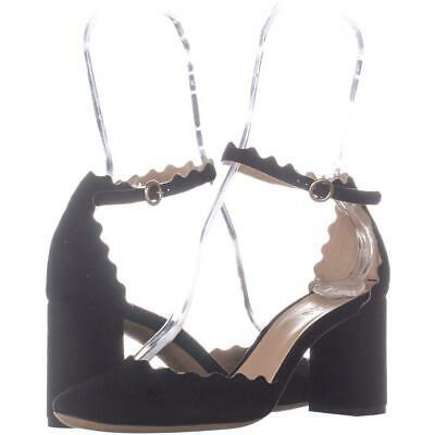 Primary image for Chloe CH 27002 Ankle Strap Sandals 025, Black Suede, 6.5 US / 36.5 EU