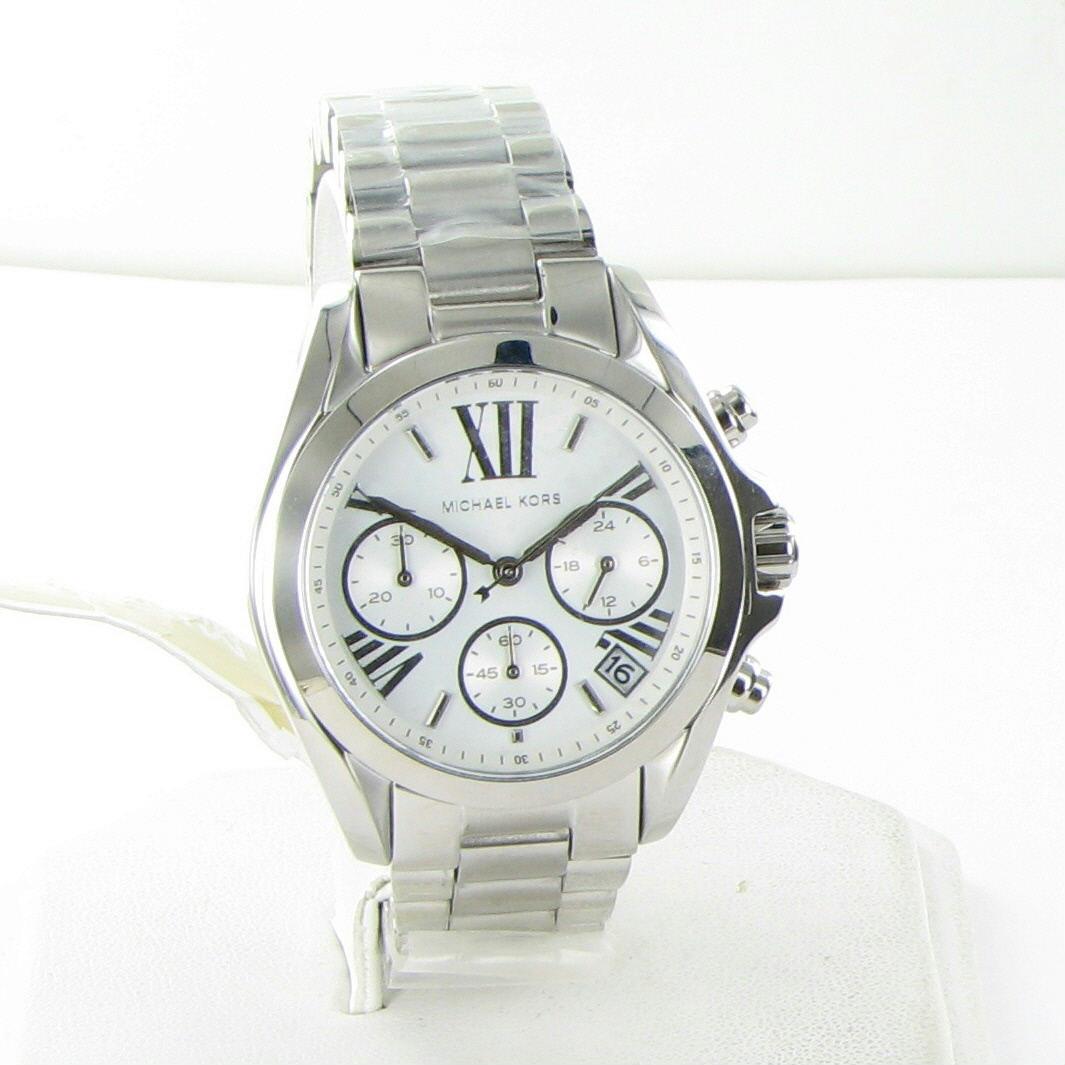 40c4d82cab0e 20851301. 20851301. Previous. Michael Kors Bradshaw Chronograph Silver Dial  Steel Ladies Watch MK6174 NWT  250