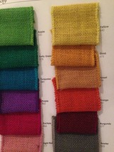 """1 1/2"""" Wired Burlap Ribbon - 25 yards - Craft Supplies- Made in USA -Pic... - $15.25"""