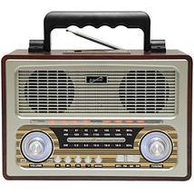 Supersonic - Retro Multi-Function Bluetooth Speaker with 3 Band Radio, B... - $64.78
