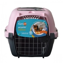 "Aspen Pet Pet Porter - Pink Pets up to 10 lbs (19""L x 12.6""W x 10""H)"