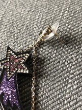 NEW AUTHENTIC CHANEL CC Shooting Star Dangle Long Earrings Crystal image 11
