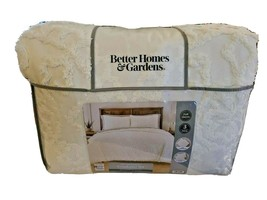 Nip Better Homes and Gardens Marfil de Bucles Medallón Completo/Reina Set 3pc - $95.50