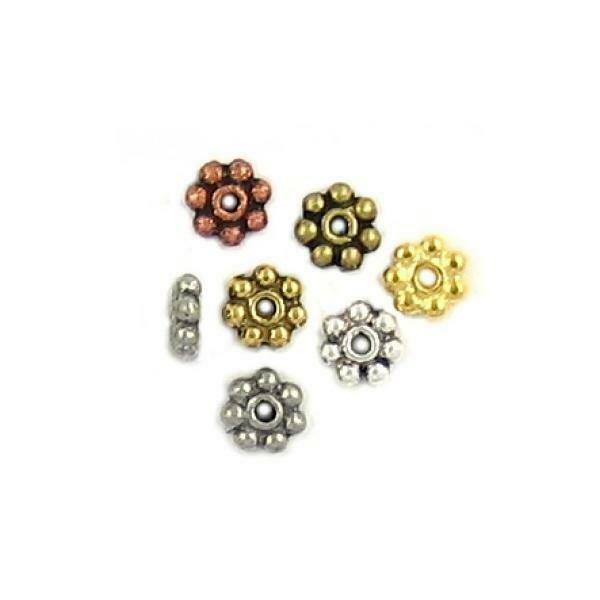 25 Pack DAISY HEISHI SPACER BEADS SPACER - 1x5x5mm  Hole 1mm