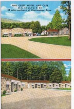 Tennessee Postcard Chattanooga Pine Crest Motel & Cafe - $2.26