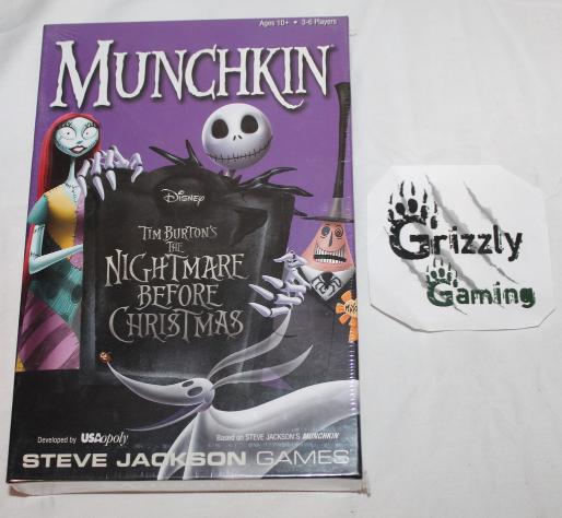 new munchkin the nightmare before christmas board game steve jackson games - Nightmare Before Christmas Board Game