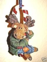 "Boyds Wee Folkstone Ornament ""Minty Mooselcane..Hangin' Sweet"" #25807 -New- 2002 - $19.99"