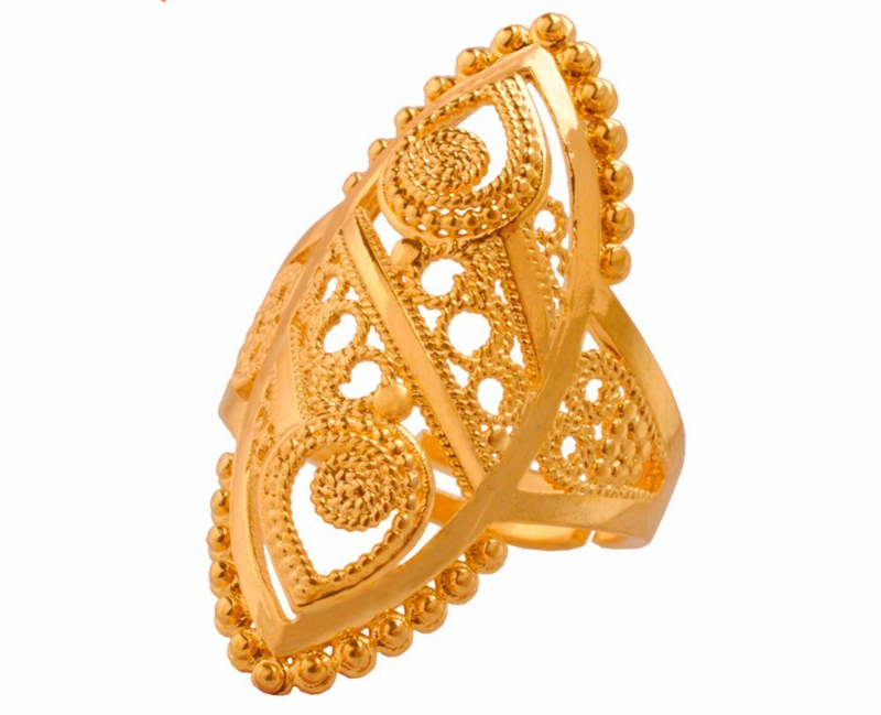 Primary image for Gold Color Ethiopian Wedding Ring Women.Arab Middle East Dubai