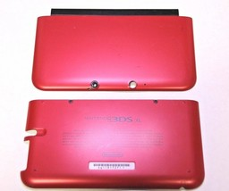 OFFICIAL NINTENDO 3DS XL HOUSING TOP, BOTTOM & COVER RED SHELL PART USA - $10.99