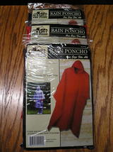 "3 Old Mill Rain Ponchos 100% Waterproof Durable Seams 52"" x 80"" One Size... - $6.99"