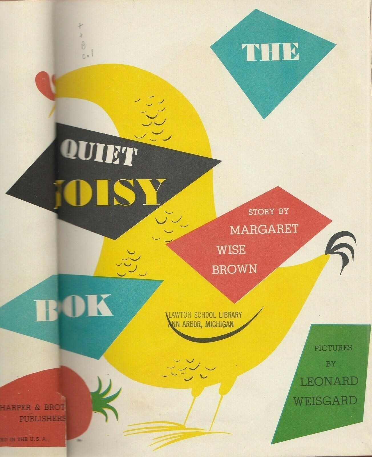 The Quiet Noisy Book by Margaret Wise Brown Leonard Weisgard Mid Century Modern