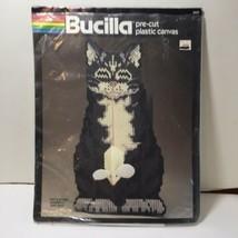Cat & Mouse Doorstop Plastic Canvas Kit Leftovers Bucilla - $8.79