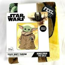 Baby Yoda The Child Throw Blanket 40x50 Disney Star Wars Mandalorian Gro... - $43.53