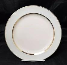 French Saxon China Dinner Plates Set of 2 USA White & Blue Pottery 9 7/8... - $19.34