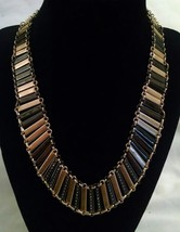NWT $95 KENNETH COLE Rhinestone Gold Black Silver Necklace NEW - $42.49