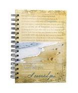 Footprints Prayer Hardcover Wirebound Journal Gift Quality New - $14.72