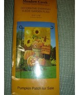 Meadow Creek Fall Pumpkin Patch Sunflowers Garden Flag NEW - $5.95