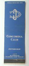 Concordia Club - Pittsburgh, Pennsylvania 20 Strike Matchbook Cover Matc... - $2.00