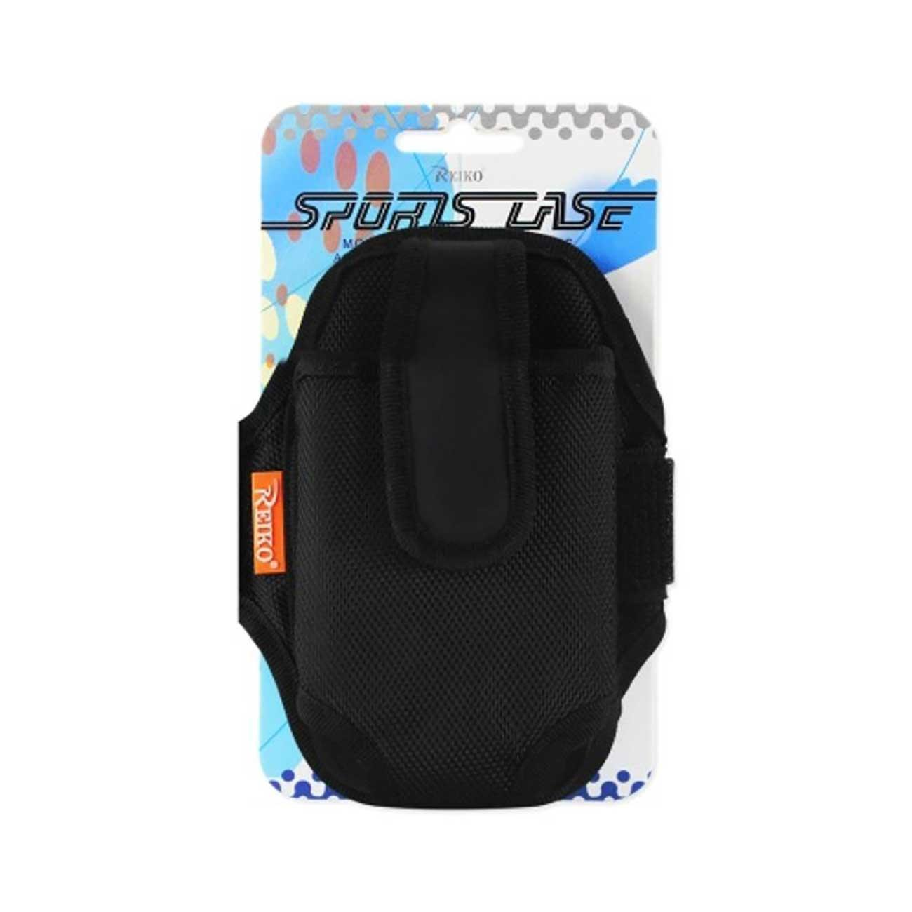 Reiko Sports Running Case 5.98x3.2x0.43 Inches (fits Phone W-o. Case) In Black