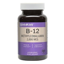 MRM Vitamin B-12 Methylcobalamin Sublingual Tablets, 2000 mcg., 60 Lozenges image 1