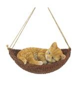 Napping Cat on Hammock Figurine - $23.16