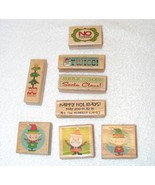 NEW STUDIO G HOLIDAY SEASON WOOD MOUNTED RUBBER STAMPS LOT OF 8  - $19.99