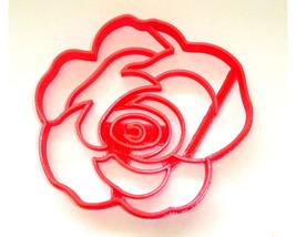 Flower 2 Rose Bloom Flowers Cookie Cutter Baking Tool USA PR3461 - $2.99