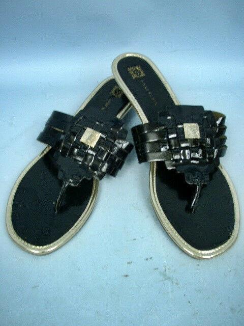 Anne Klein Irisa iFlex Black Patent Sandals - Size 9 1/2