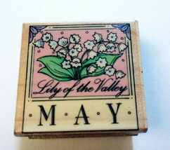 May Birthday Flower Rubber Stamp Lily Of The Valley Spring Month Hero Arts 1995 - $9.88