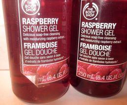 2 bottles The Body Shop Shower Gel 8.4 oz soap-free moisturizing  Raspberry - $29.99