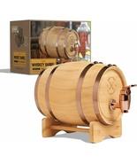 800ml / 27 fl oz Wood Whiskey Barrel With Convenient Spout Miniature Dis... - $35.63