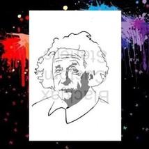 Albert Einstein 01  Airbrush Stencil,Template - $10.99