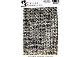 Cornish Heritage Farms Burlap Backgrounder Rubber Stamp #SL-1400WUM